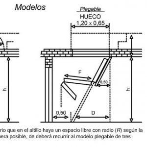 Esacalera Plegable para Altillo en Aluminio