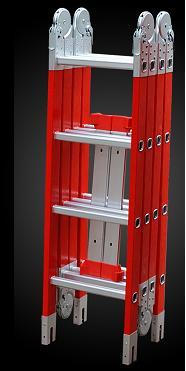 Escalera Articulada Multifunción De Fibra