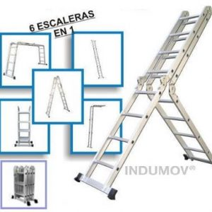 Escalera Articulada Multifunción De Aluminio