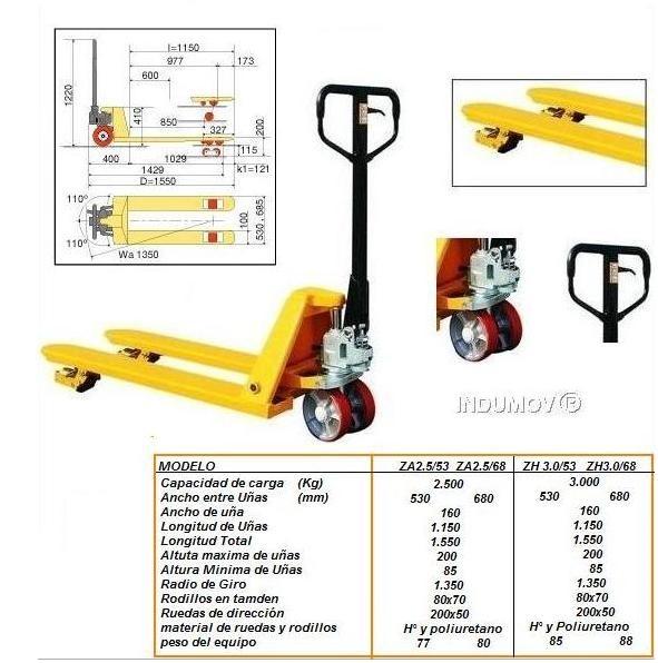 Zorra Manual Hidraulica