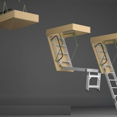escalera para altillo de aluminio
